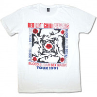 Red Hot Chili Peppers Blood Sugar 1991 Tour T-shirt - Red Hot Chili Peppers - R - Artists/Groups - Rockabilia
