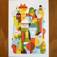 Character City Print A5 - LouLou & Tummie's Webshop