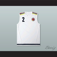 Pablo Escobar 2 Colombia White Football Soccer Shirt Jersey