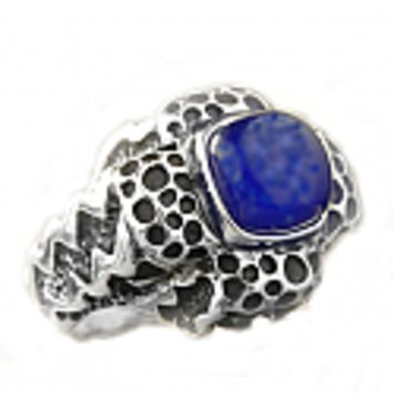 Sterling Silver and Lapis Lazuli Pasha Cross Ring