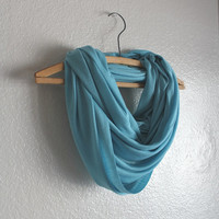 Ice Blue Infinity Scarf - Ice Blue Scarf- November trends
