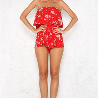 Sundaze Playsuit Red