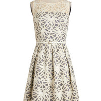 ModCloth Long Sleeveless A-line Map to Marvelous Dress