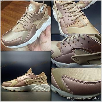 2017 Air Huarache Running Shoes For Men Women Rose Gold High Quality Sneakers Triple Huaraches Athletic Trainers huraches Sport Shoes 36-46