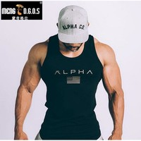 Men Summer gyms Fitness bodybuilding Hooded Top Crossfit clothing