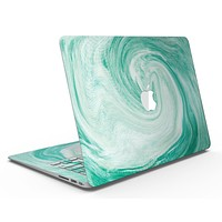 Swirling Mint Acrylic Marble - MacBook Air Skin Kit