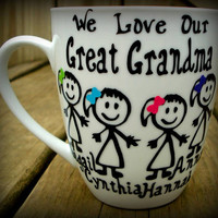 Personalized great grandma gift, great grandpa mug, unique great grandmother mug, great grandma mug, great greatmother to be