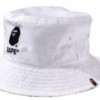 Mens and Women Cotton Hip Hop Solid Color Fishing Hiking Letter Embroidery  Bape Hats