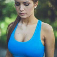 Mind Over Matter Sport Bra in Blue