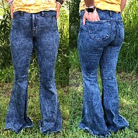 Acid Wash Bell Bottoms *** RE-STOCK***