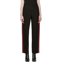 Black & Red Band Trousers
