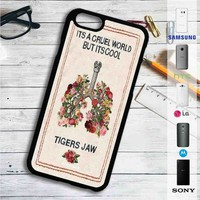 Tigers Jaw Flowers iPhone 4/4S 5 S/C/SE 6/6S Plus 7| Samsung Galaxy S4 S5 S6 S7 NOTE 3 4 5| LG G2 G3 G4| MOTOROLA MOTO X X2 NEXUS 6| SONY Z3 Z4 MINI| HTC ONE X M7 M8 M9 M8 MINI CASE