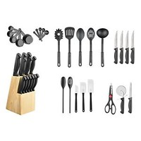 Hampton Forge 40-Piece Cutlery Knife Block Set Cook Kitchen Food Preparation