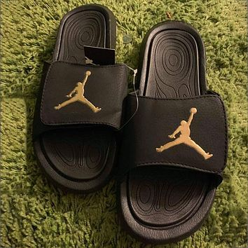 Nike Air Jordan Flyer LOGO Printed Sandals Men's and Women's Slippers