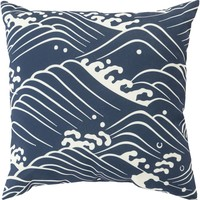 Mizu Throw Pillow Blue, Neutral