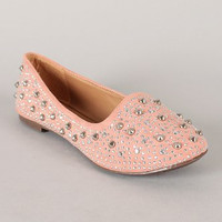 Women's Breckelles Slip On Studded Flat Dress Shoes Jolene-03