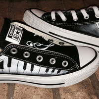 Music Piano Funky Style Converse Shoes