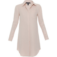 Xander Blush Silk Shirt Dress