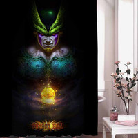 Dragonball Z Villain Character shower curtain adorabel batheroom hane made