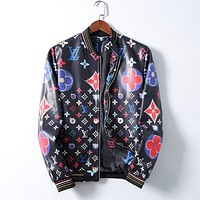 LV Louis Vuitton Coral velvet Loose Solid Color Pocket Long Sleeve Cardigan Jacket Coat leather clothing