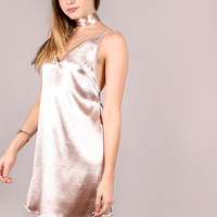 Pink Crushed Cami Dress