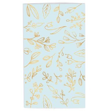 Large Lt. Blue & Gold Floral Match Box