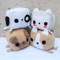 Dog Animal Plush - Kawaii Plushie , Cute Stuffed Animal, Children Softie, Husky, Puppy, Pug, Corgi
