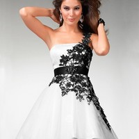 Buy Custom Made High Quality 2012 Spring Style Empire Strapless Applique Sleeveless Short / Mini Inexpensive Short White Cocktail Dresses / Homecoming Dresses HD7101 at wholesale cheap prices from Bridal-Buy.com