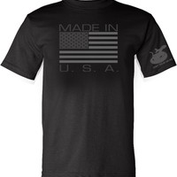 Made in USA T-Shirt - Black - Large - by Gadsden and Culpeper