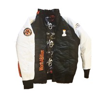 WorthABillion fall Racing Jacket ( black white orange )