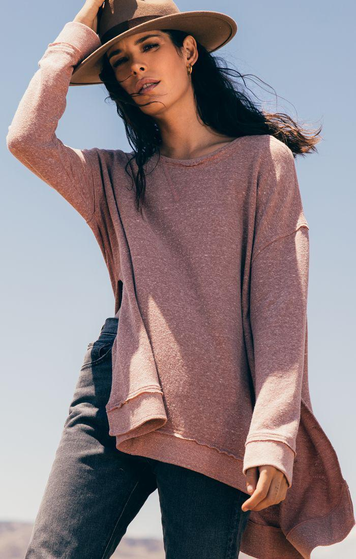 Image of The Triblend Vacay Pullover -Mesa Red