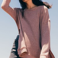 The Triblend Vacay Pullover -Mesa Red