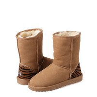Ozwear UGG 3/4 Boots With Tiger Print