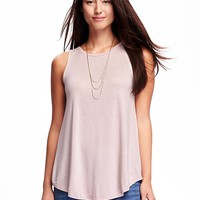 High-Neck Tank for Women   Old Navy