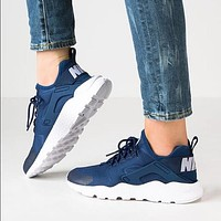 Nike Wmns Air Huarache Run Ultra Sports shoes Navy blue G