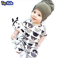 Summer Cartoon Print Baby Girl Clothes Kid Jumpsuit Baby Boy Body Suit Clothing Short Sleeve Romper