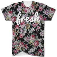 Fresh floral all over print t shirt