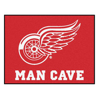 Detroit Red Wings NHL Man Cave All-Star Floor Mat (34in x 45in)