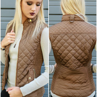 Longwood Gardens Brown Quilted Padded Vest With Pockets