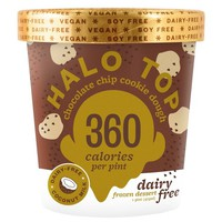 Halo Top Non Dairy Chocolate Chip Cookie Dough Ice Cream - 1pt