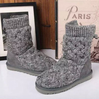 """""""UGG"""" female fashion wool snow boots wool shoes Grey"""
