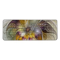 Abstract Colorful Fantasy Flower Modern Fractal Wireless Keyboard