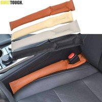 1Pc Pu Leather Front Car Seat Gap Stopper Leak Proof Stop Pad Filler Spacer Mat Cushion Cover Car