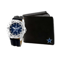NFL Dallas Cowboys Men's Watch and Wallet Gift Set
