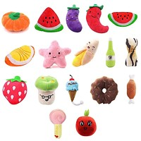 Animals Cartoon Dog Toys Stuffed Squeaking Pet Toy Cute Plush Puzzle for Dogs Cat Chew Squeaker Squeaky Toy for Pet