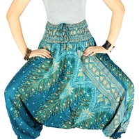 Peacock pants Palazzo pants Hippie pants Gypsy pants  Harem pants Elephant pants Hippie clothes Elephant clothes
