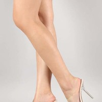 Transparent Open Toe Stiletto Mule Heel