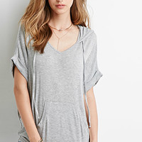 Oversized Heathered Top