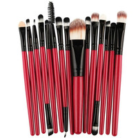 MAANGE 15 pcs/Sets Eye Shadow Foundation Eyebrow Lip Brush Makeup Brushes Tool pinceis de maquiagem escova oval Anne