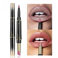 Pudaier Brand Matte Lipstick Wateproof Double Ended Long Lasting Lipstick Cosmetics Nude Red Lips liner Pencil